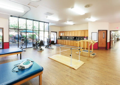 Spacious room for rehabilitation and exercise