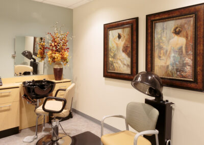 Beauty room with two paintings on the wall
