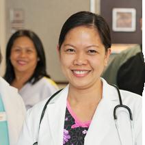 Nurses smiling.