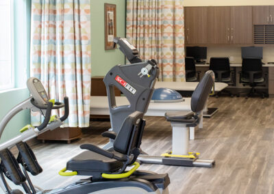 Exercise equipment that is clean and ready for use.