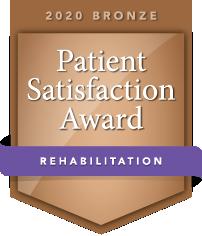 2020 Bronze Patient Satisfaction Award for Rehabilitation logo
