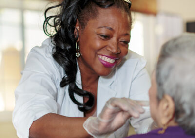 Reo Vista nurse and resident